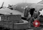 Image of loading airplane with movies for troops overseas New York United States USA, 1943, second 38 stock footage video 65675072285