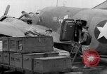 Image of loading airplane with movies for troops overseas New York United States USA, 1943, second 42 stock footage video 65675072285
