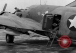Image of loading airplane with movies for troops overseas New York United States USA, 1943, second 48 stock footage video 65675072285