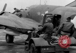 Image of loading airplane with movies for troops overseas New York United States USA, 1943, second 60 stock footage video 65675072285