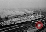 Image of luxury liner Queen Elizabeth Southampton England United Kingdom, 1946, second 1 stock footage video 65675072300