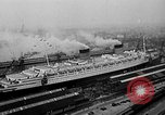 Image of luxury liner Queen Elizabeth Southampton England United Kingdom, 1946, second 2 stock footage video 65675072300