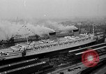 Image of luxury liner Queen Elizabeth Southampton England United Kingdom, 1946, second 3 stock footage video 65675072300