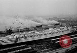 Image of luxury liner Queen Elizabeth Southampton England United Kingdom, 1946, second 4 stock footage video 65675072300