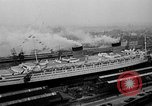 Image of luxury liner Queen Elizabeth Southampton England United Kingdom, 1946, second 5 stock footage video 65675072300