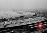 Image of luxury liner Queen Elizabeth Southampton England United Kingdom, 1946, second 6 stock footage video 65675072300