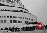 Image of luxury liner Queen Elizabeth Southampton England United Kingdom, 1946, second 25 stock footage video 65675072300