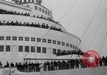 Image of luxury liner Queen Elizabeth Southampton England United Kingdom, 1946, second 26 stock footage video 65675072300