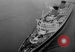 Image of luxury liner Queen Elizabeth Southampton England United Kingdom, 1946, second 32 stock footage video 65675072300