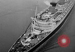 Image of luxury liner Queen Elizabeth Southampton England United Kingdom, 1946, second 33 stock footage video 65675072300