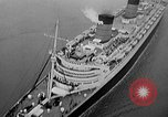 Image of luxury liner Queen Elizabeth Southampton England United Kingdom, 1946, second 34 stock footage video 65675072300