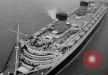 Image of luxury liner Queen Elizabeth Southampton England United Kingdom, 1946, second 35 stock footage video 65675072300
