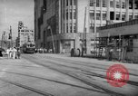 Image of civilians wait for streetcar Hiroshima Japan, 1946, second 24 stock footage video 65675072450