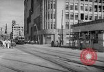 Image of civilians wait for streetcar Hiroshima Japan, 1946, second 25 stock footage video 65675072450