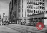 Image of civilians wait for streetcar Hiroshima Japan, 1946, second 26 stock footage video 65675072450