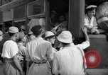 Image of civilians wait for streetcar Hiroshima Japan, 1946, second 42 stock footage video 65675072450