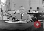 Image of Harry S Truman announcing the use of an atomic bomb California USA, 1945, second 10 stock footage video 65675072459