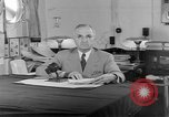 Image of Harry S Truman announcing the use of an atomic bomb California USA, 1945, second 13 stock footage video 65675072459