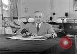Image of Harry S Truman announcing the use of an atomic bomb California USA, 1945, second 21 stock footage video 65675072459