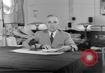 Image of Harry S Truman announcing the use of an atomic bomb California USA, 1945, second 23 stock footage video 65675072459