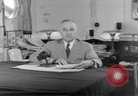 Image of Harry S Truman announcing the use of an atomic bomb California USA, 1945, second 26 stock footage video 65675072459