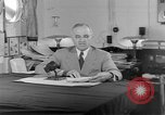 Image of Harry S Truman announcing the use of an atomic bomb California USA, 1945, second 29 stock footage video 65675072459
