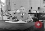 Image of Harry S Truman announcing the use of an atomic bomb California USA, 1945, second 30 stock footage video 65675072459