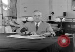 Image of Harry S Truman announcing the use of an atomic bomb California USA, 1945, second 32 stock footage video 65675072459