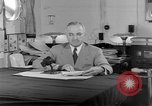 Image of Harry S Truman announcing the use of an atomic bomb California USA, 1945, second 34 stock footage video 65675072459