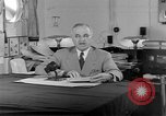 Image of Harry S Truman announcing the use of an atomic bomb California USA, 1945, second 37 stock footage video 65675072459