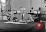 Image of Harry S Truman announcing the use of an atomic bomb California USA, 1945, second 41 stock footage video 65675072459