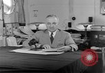 Image of Harry S Truman announcing the use of an atomic bomb California USA, 1945, second 44 stock footage video 65675072459