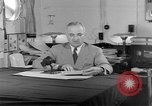 Image of Harry S Truman announcing the use of an atomic bomb California USA, 1945, second 45 stock footage video 65675072459