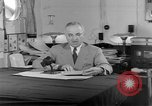 Image of Harry S Truman announcing the use of an atomic bomb California USA, 1945, second 46 stock footage video 65675072459