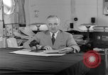 Image of Harry S Truman announcing the use of an atomic bomb California USA, 1945, second 47 stock footage video 65675072459