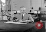 Image of Harry S Truman announcing the use of an atomic bomb California USA, 1945, second 50 stock footage video 65675072459