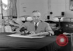 Image of Harry S Truman announcing the use of an atomic bomb California USA, 1945, second 52 stock footage video 65675072459