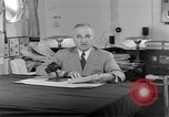 Image of Harry S Truman announcing the use of an atomic bomb California USA, 1945, second 55 stock footage video 65675072459