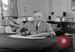 Image of Harry S Truman announcing the use of an atomic bomb California USA, 1945, second 57 stock footage video 65675072459