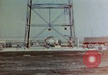 Image of Hoisting of Gadget atomic bomb before Trinity nuclear test Alamogordo New Mexico USA, 1945, second 5 stock footage video 65675072463