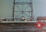 Image of Hoisting of Gadget atomic bomb before Trinity nuclear test Alamogordo New Mexico USA, 1945, second 8 stock footage video 65675072463