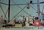 Image of Hoisting of Gadget atomic bomb before Trinity nuclear test Alamogordo New Mexico USA, 1945, second 13 stock footage video 65675072463