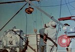 Image of Hoisting of Gadget atomic bomb before Trinity nuclear test Alamogordo New Mexico USA, 1945, second 16 stock footage video 65675072463
