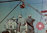 Image of Hoisting of Gadget atomic bomb before Trinity nuclear test Alamogordo New Mexico USA, 1945, second 18 stock footage video 65675072463