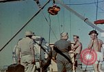 Image of Hoisting of Gadget atomic bomb before Trinity nuclear test Alamogordo New Mexico USA, 1945, second 20 stock footage video 65675072463