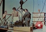 Image of Hoisting of Gadget atomic bomb before Trinity nuclear test Alamogordo New Mexico USA, 1945, second 31 stock footage video 65675072463