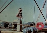 Image of Hoisting of Gadget atomic bomb before Trinity nuclear test Alamogordo New Mexico USA, 1945, second 32 stock footage video 65675072463