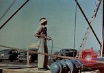 Image of Hoisting of Gadget atomic bomb before Trinity nuclear test Alamogordo New Mexico USA, 1945, second 33 stock footage video 65675072463