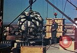 Image of Hoisting of Gadget atomic bomb before Trinity nuclear test Alamogordo New Mexico USA, 1945, second 41 stock footage video 65675072463