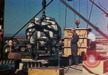 Image of Hoisting of Gadget atomic bomb before Trinity nuclear test Alamogordo New Mexico USA, 1945, second 42 stock footage video 65675072463